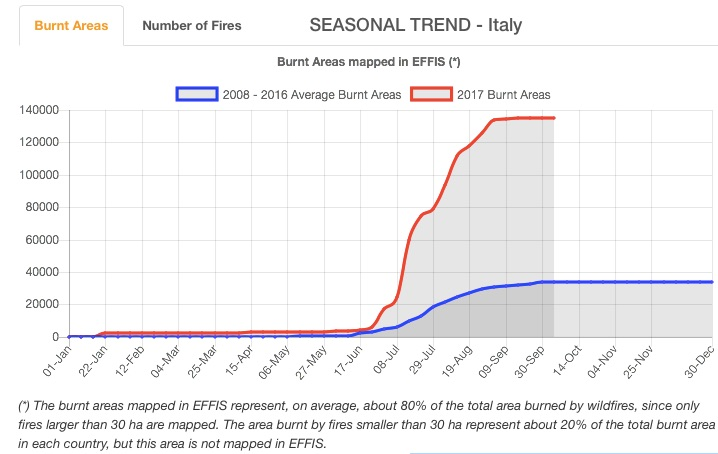 EFFIS Current Situation Italy