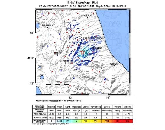 Il sito web del cnt ingv migliora la localizzazione dei for Ingv lista terremoti di oggi